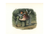 Elf Kissing a Fairy over a Toadstool Giclee Print by Richard Doyle