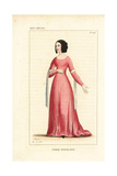 French Noblewoman, 14th Century Giclee Print by Leopold Massard