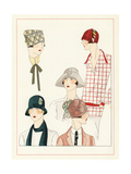 Variety of Cloche Hat Fashions from May 1925 Giclee Print