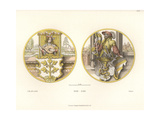 Glass Paintings Showing Coats of Arms with Lute Player Giclee Print by Jakob Heinrich Hefner-Alteneck