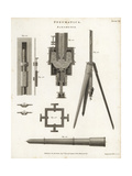 Pneumatics- Barometer, Section, Elevation, 18th Century Giclee Print by J. Farey