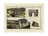 Roman Town Walls, Aqueduct and Reservoir Giclee Print by Robert von Spalart