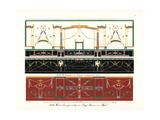 Murals from Houses in Pompeii Giclee Print by Wilhelm Zahn