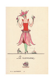 Woman in Narcissus Fancy Dress Costume Giclee Print