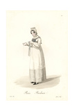 Embroiderer, Paris, Early 19th Century Giclee Print by Louis-Marie Lante