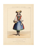 Costume of a Young Woman of Bergedorf, Germany, 19th Century Giclee Print by Thomas Hailes Lacy