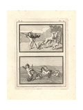 Vignettes of Cupids or Genii Playing at Hunting and Racing Giclee Print by Tommaso Piroli