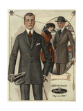 Men's Conservative Single-Breasted Suits from the 1920s Giclee Print