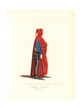 Costume of a Young Italian Man, 14th Century Giclee Print by Paul Mercuri