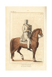Knight Templar in Combat Uniform, 12th Century Giclee Print by Leopold Massard