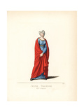 Costume of a Young Italian Woman, 15th Century Giclee Print by Paul Mercuri