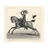 Woman Rider Losing Her Hat Because of Her Perruque (Wig), 1800 Giclée-Druck von Carle Vernet