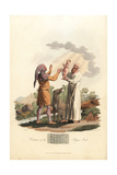 Costume of the Pagan Irish in the Post-Roman Era Giclee Print by Charles Hamilton Smith