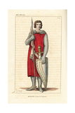 Renaud or Bernard, Count of Tonnerre, 12th Century Giclee Print by Leopold Massard