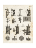 Cylinders and Pistons in a Steam Engine, 19th Century Giclee Print by J. Farey