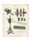 Optical Micrometers of the 18th Century Giclee Print by J. Farey