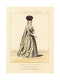 English Lady in Walking Dress, Reign of King George II Giclee Print by Thomas Hailes Lacy