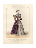 Mary Queen of Scots Circa 1566 Giclee Print by Thomas Hailes Lacy