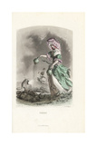 Opium Poppy Flower Fairy, Papaver Somniferum Giclee Print by Jean Ignace Grandville