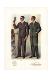 Men in Double-Breasted and Sports Suits, 1920s Giclee Print by W.A. Richards