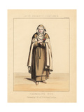 Costume of a Carmelite Nun, 19th Century Giclee Print by Thomas Hailes Lacy