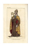 St Louis, Bishop of Toulouse, 14th Century Giclee Print by Leopold Massard
