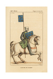 Louis Ix, King of France, Military Costume, 1215-1270 Giclee Print by Leopold Massard