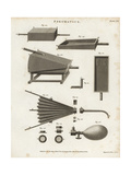 Pneumatics- Bellows, Plans and Elevations, 18th Century Giclee Print by J. Farey