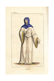 Bertha, Daughter of King Lothair Ii and His Concubine Waldrada Giclee Print by Leopold Massard