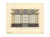 Shopfront of Bertin's Fashion Boutique, Paris, Circa 1800 Giclee Print by Hector-Martin Lefuel