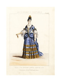 Costume of a Lady, Reign of Queen Anne, 1708 Giclee Print by Thomas Hailes Lacy