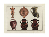 Greek Lamps and Vases Giclee Print by Robert von Spalart