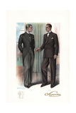 Men in Formal Wear and Double-Breasted Suit, Late 1920s Giclee Print by W.A. Richards