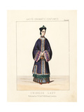 Costume of a Chinese Lady, 19th Century Giclee Print by Thomas Hailes Lacy