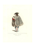Costume of an Italian Noble Man, 14th Century Giclee Print by Paul Mercuri