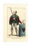 Bertrand Du Guesclin, Constable of France, 1314-1380 Giclee Print by Leopold Massard