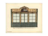 Shopfront of Sallart's Hatmaker, Paris, Circa 1800 Giclee Print by Hector-Martin Lefuel