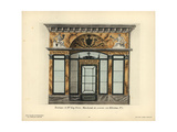 Shopfront to the Gay Brothers' Silk Store, Paris, Circa 1800 Giclee Print by Hector-Martin Lefuel