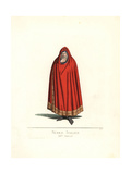 Italian Nobleman in Cape with Ermine Border, 14th Century Giclee Print by Paul Mercuri