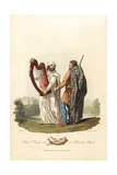 Irish Ollamh and an Heraldic Bard, Pre-Roman Era Giclee Print by Charles Hamilton Smith
