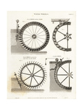 Waterwheels, Water Power of the 19th Century Giclee Print by Wilson Lowry