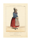 Costume of a Fisherman's Wife, France, Late 19th Century Giclee Print by Thomas Hailes Lacy