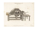 Carding Engine Used for Wool Manufacture, 18th Century Giclee Print by Wilson Lowry