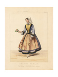 Costume of a Woman of Breton, France, 19th Century Giclee Print by Thomas Hailes Lacy