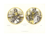 Glass Paintings Showing Coats of Arms with Lute Player and Lovers Giclee Print by Jakob Heinrich Hefner-Alteneck