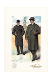 Men in Double-Breasted and Raglan Coats, 1920s Giclee Print by W.A. Richards