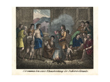 Divorce Ceremony Between Natives of Canada Giclee Print