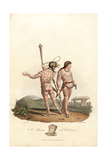Maaeata and Caledonian Men of the Pre-Roman Era Giclee Print by Charles Hamilton Smith