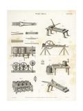 Wire Mill, 19th Century Giclee Print by J. Farey