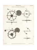 Horology; John Arnold's and Thomas Earnshaw's Chronometers Giclee Print by J. Farey